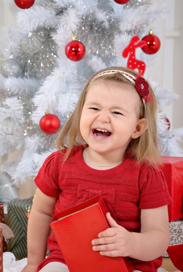 Κοριτσάκι Χριστουγέννων στοκ φωτογραφία