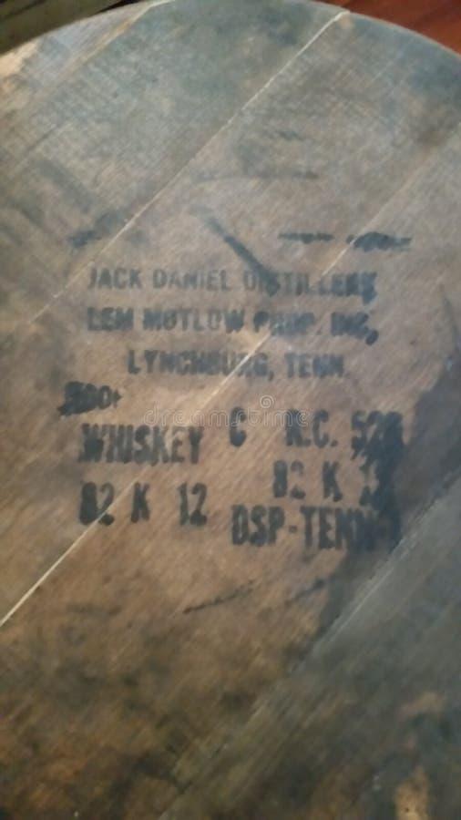 Κορυφή βαρελιών wiskey του Jack Daniels στοκ εικόνες