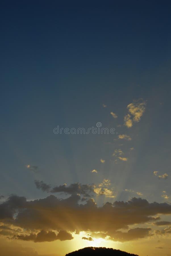 κορυφή ελαφριών ακτίνων λό&p στοκ εικόνα
