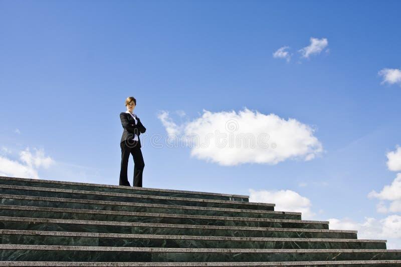 κορυφή επιχειρηματιών στοκ φωτογραφία