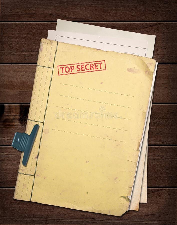 Κορυφή - μυστικό αρχείο. στοκ φωτογραφίες