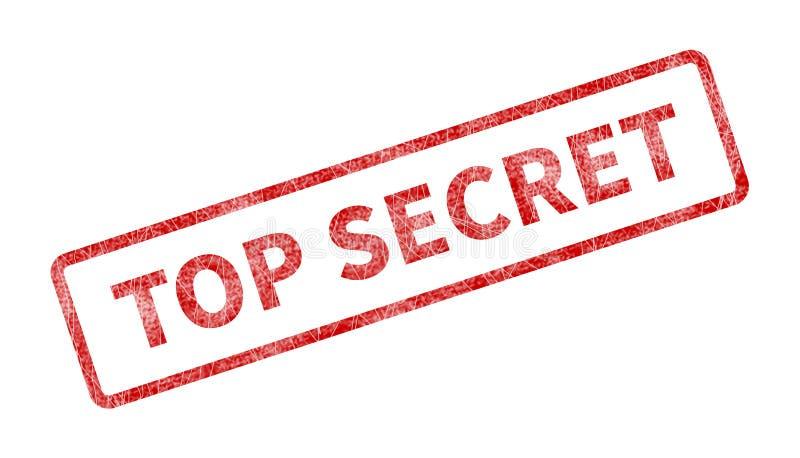 Κορυφή - μυστικό γραμματόσημο - κόκκινη σφραγίδα Grunge απεικόνιση αποθεμάτων