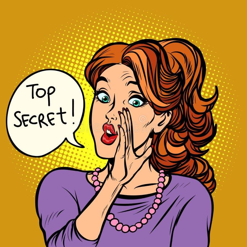 Κορυφή - μυστικό οι γυναίκες κουτσομπολεύουν φήμη διανυσματική απεικόνιση