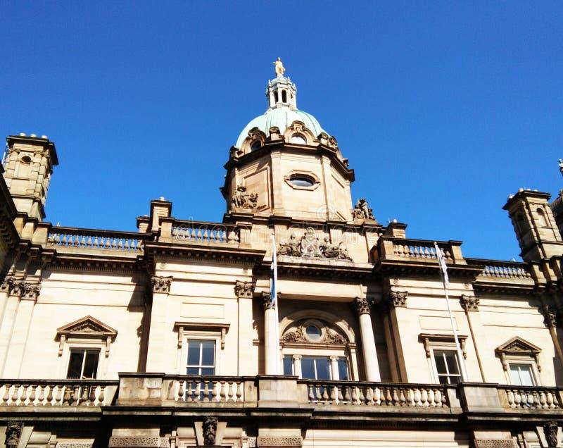 Κορυφή που καλύπτεται δια θόλου της τράπεζας του κτηρίου της Σκωτίας στοκ εικόνα