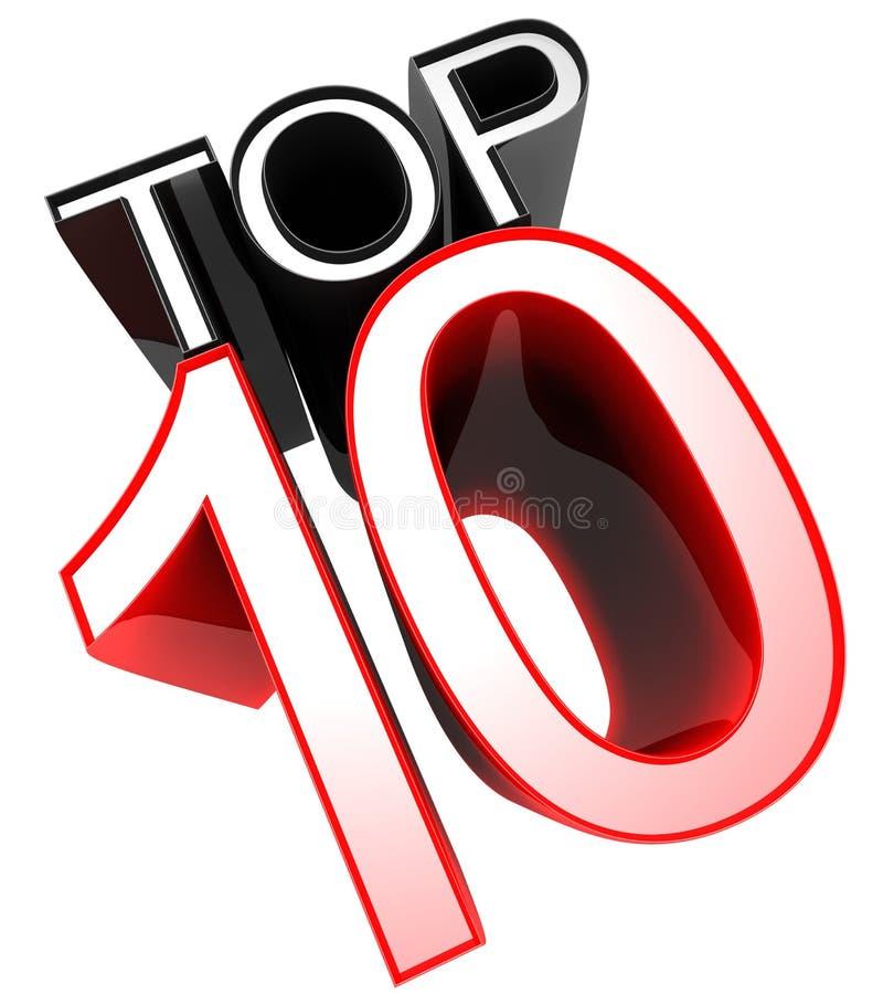 κορυφή σημαδιών 10 έννοιας ελεύθερη απεικόνιση δικαιώματος