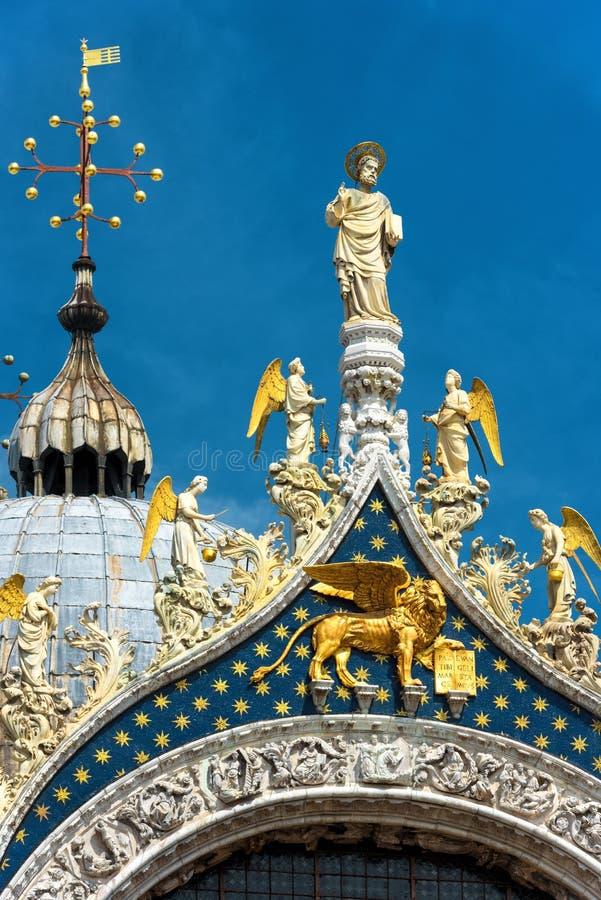 Κορυφή της βασιλικής Αγίου Mark ` s στη Βενετία, Ιταλία στοκ φωτογραφίες με δικαίωμα ελεύθερης χρήσης