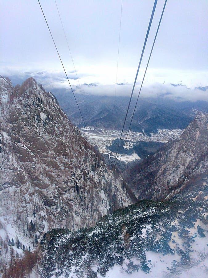 Κορυφή της θέας βουνού στοκ φωτογραφία