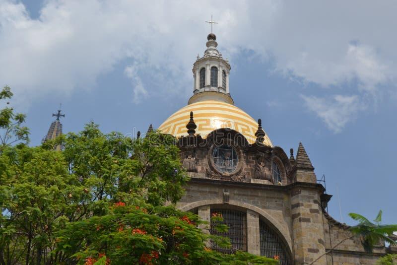 Κορυφή του καθεδρικού ναού του Γουαδαλαχάρα στοκ εικόνα με δικαίωμα ελεύθερης χρήσης