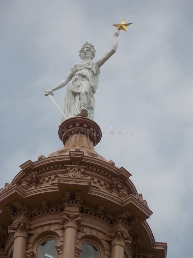 Κορυφή του κτηρίου capitol του Τέξας στοκ φωτογραφίες