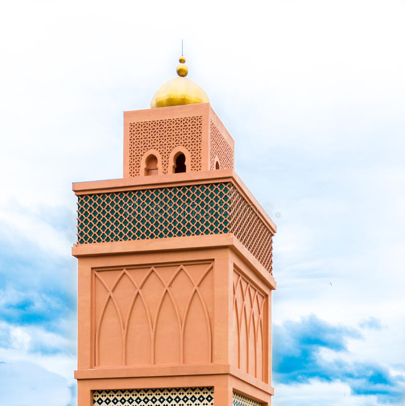 Κορυφή του μουσουλμανικού τεμένους στοκ εικόνες