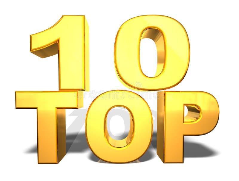 κορυφή 10 διανυσματική απεικόνιση