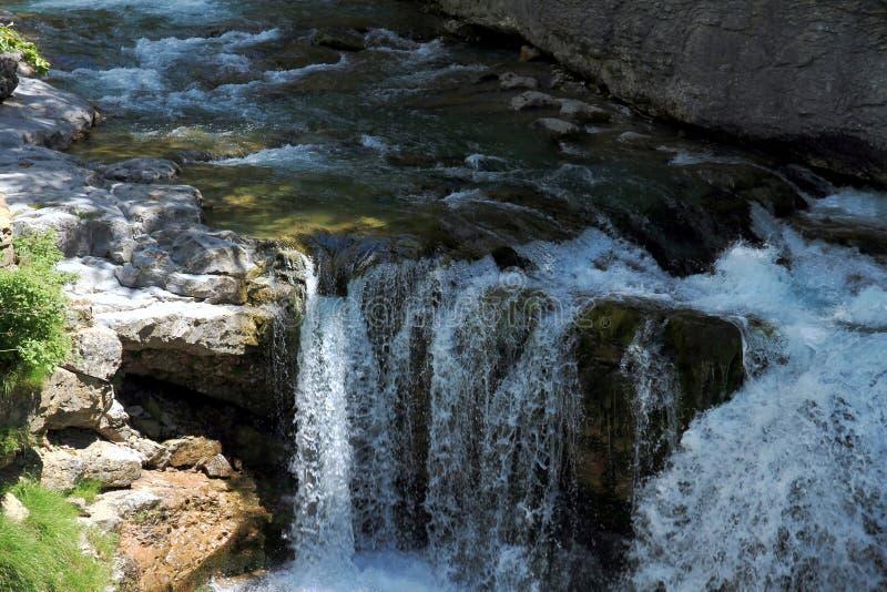 Κορυφή Cascada del Estrecho στο εθνικό πάρκο Ordesa στοκ εικόνες