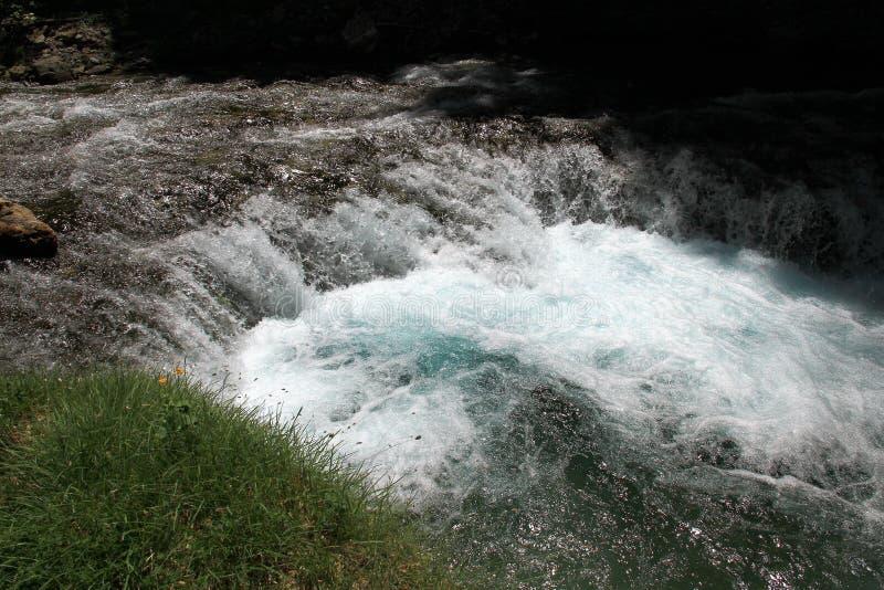 Κορυφή Cascada del Estrecho στο εθνικό πάρκο Ordesa στοκ εικόνα με δικαίωμα ελεύθερης χρήσης