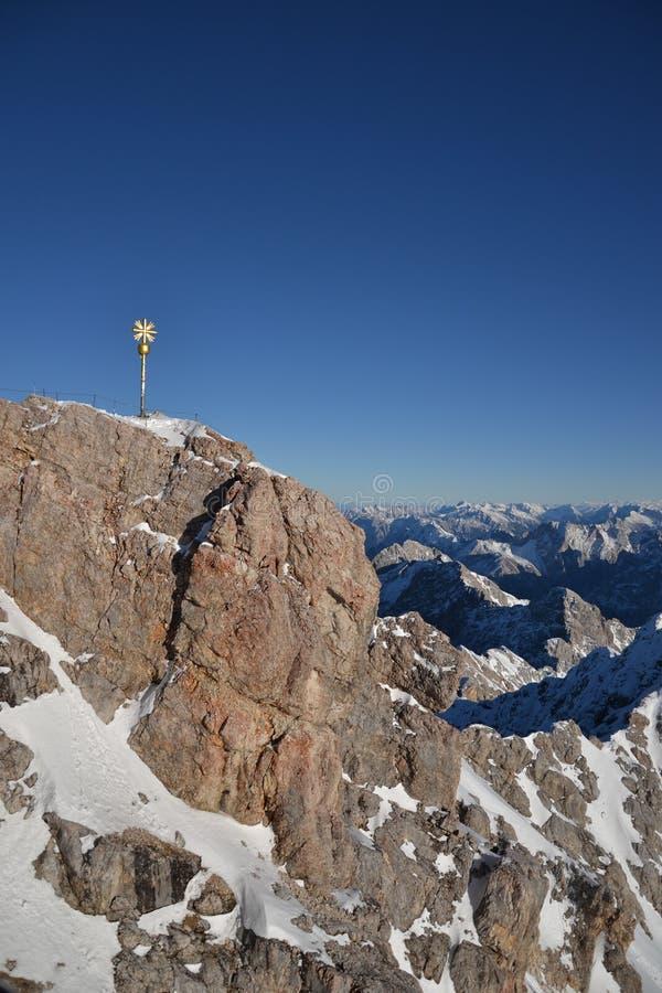 Κορυφή Zugspitze στοκ εικόνα