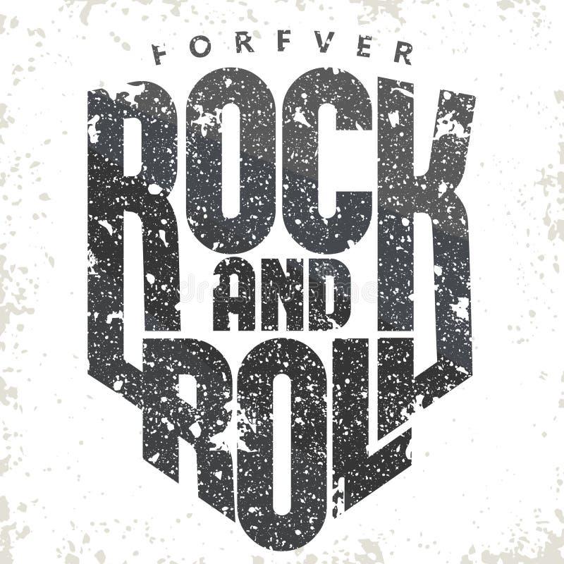 Κορυφαία ετικέτα εκτύπωσης ροκ μουσικής Διάνυσμα εκτύπωσης μπλουζιού διανυσματική απεικόνιση