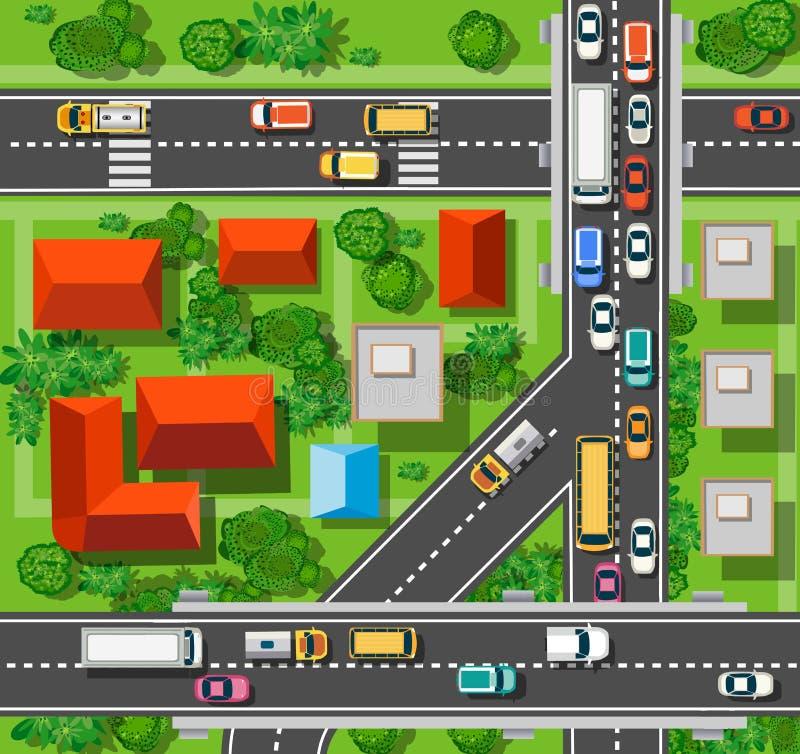 κορυφαία όψη πόλεων ελεύθερη απεικόνιση δικαιώματος