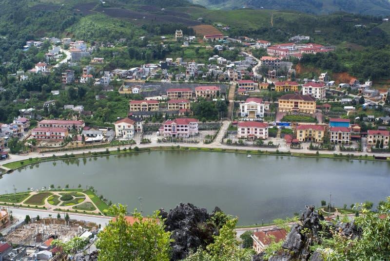 κορυφαία όψη του Βιετνάμ Sapa Στοκ Εικόνα