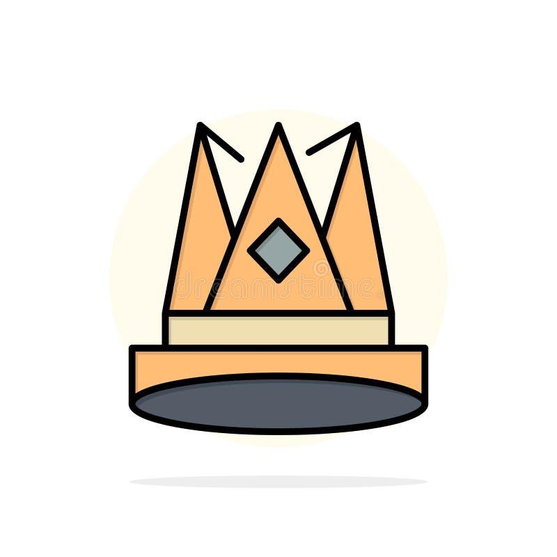 Κορώνα, βασιλιάς, αυτοκρατορία, πρώτα, θέση, επιτεύγματος αφηρημένο κύκλων εικονίδιο χρώματος υποβάθρου επίπεδο απεικόνιση αποθεμάτων