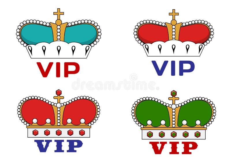 Κορώνες με το VIP σημάδι ελεύθερη απεικόνιση δικαιώματος