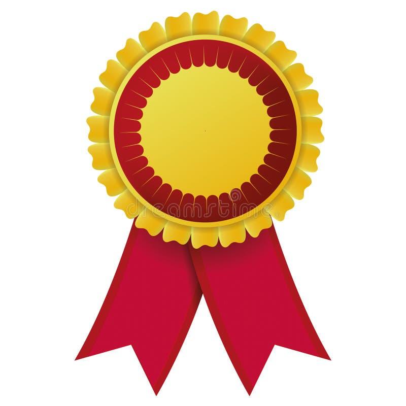 Κορδέλλα ετικετών, κίτρινο κόκκινο διανυσματική απεικόνιση