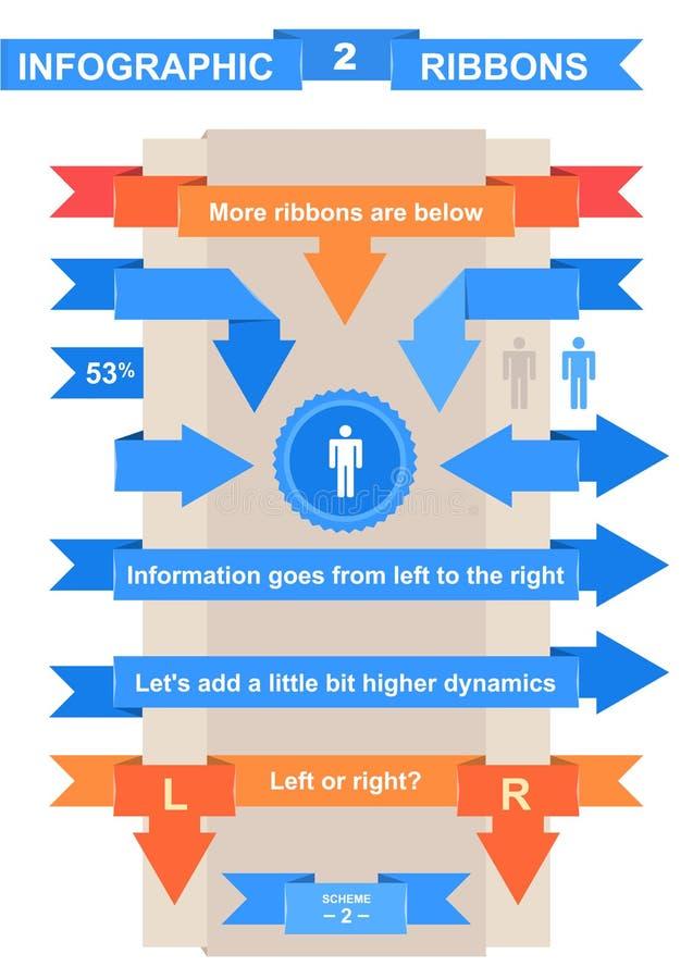 Κορδέλλα της Νίκαιας που τίθεται για το infographic τίτλο ελεύθερη απεικόνιση δικαιώματος