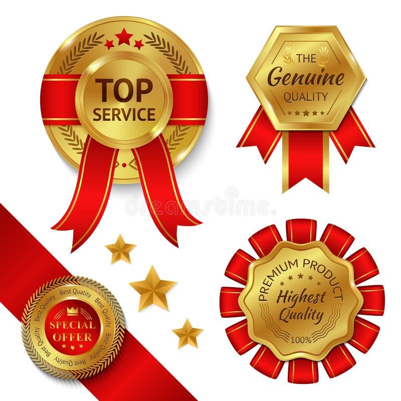 Κορδέλλες βραβείων καθορισμένες διανυσματική απεικόνιση
