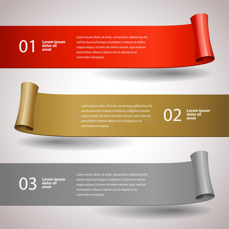 κορδέλλες στοιχείων σχεδίου που τίθενται διανυσματικές Infographic πρότυπο σχεδίου απεικόνιση αποθεμάτων