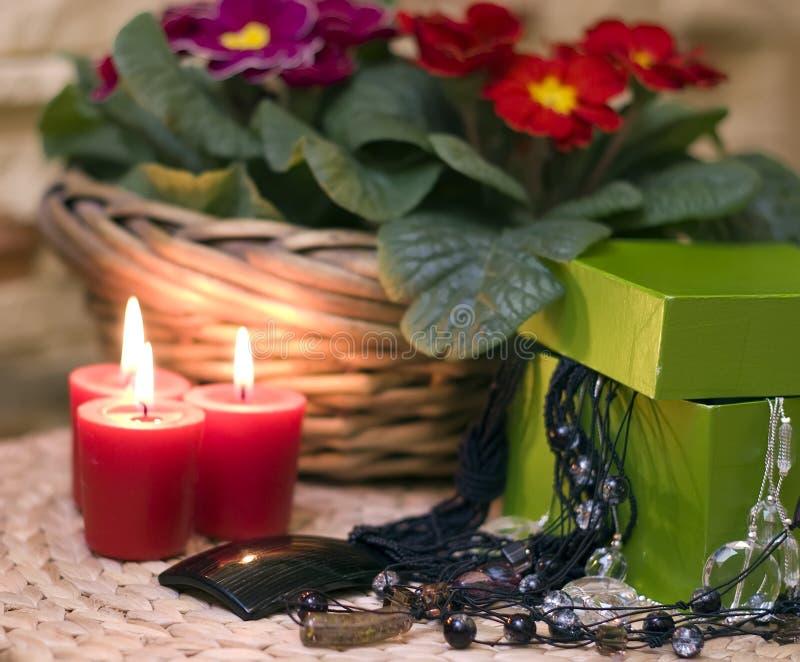 κοσμήματα κεριών στοκ εικόνα με δικαίωμα ελεύθερης χρήσης
