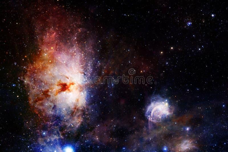 Κοσμικό τοπίο, τρομερή ταπετσαρία επιστημονικής φαντασίας με το ατελείωτο μακρινό διάστημα στοκ φωτογραφία με δικαίωμα ελεύθερης χρήσης