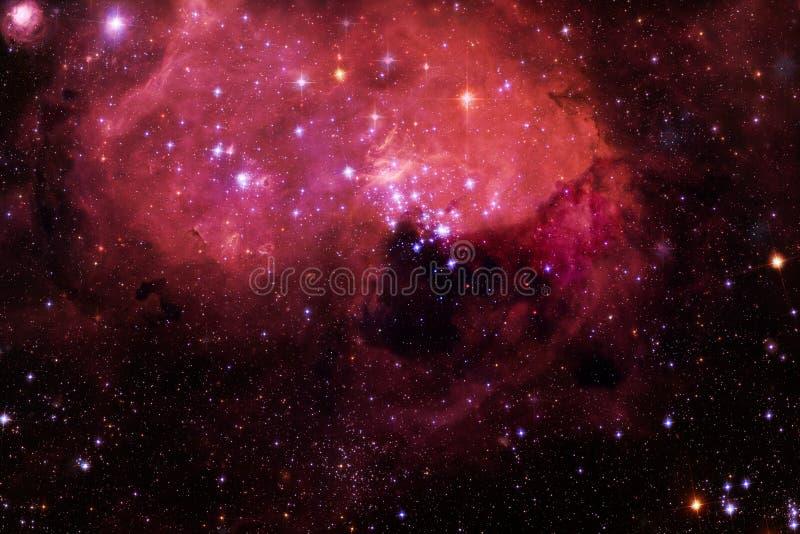 Κοσμικό τοπίο, τρομερή ταπετσαρία επιστημονικής φαντασίας στοκ εικόνα