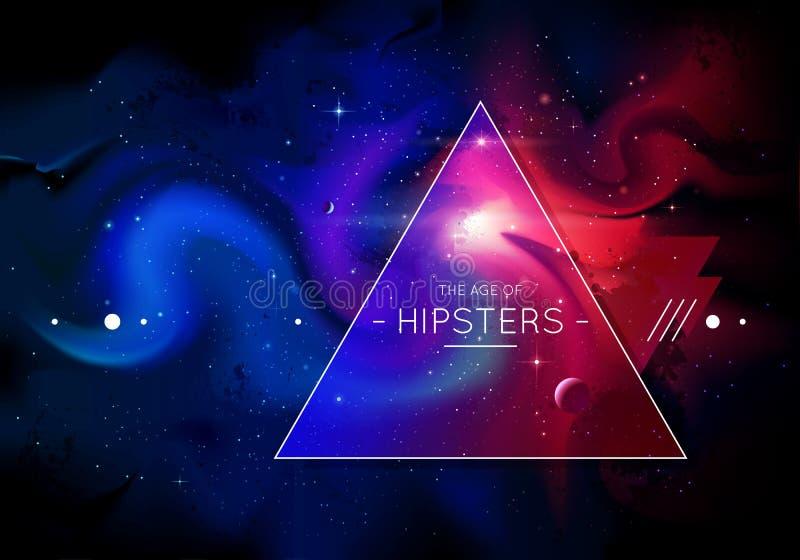 Κοσμικό υπόβαθρο hipster απεικόνιση αποθεμάτων