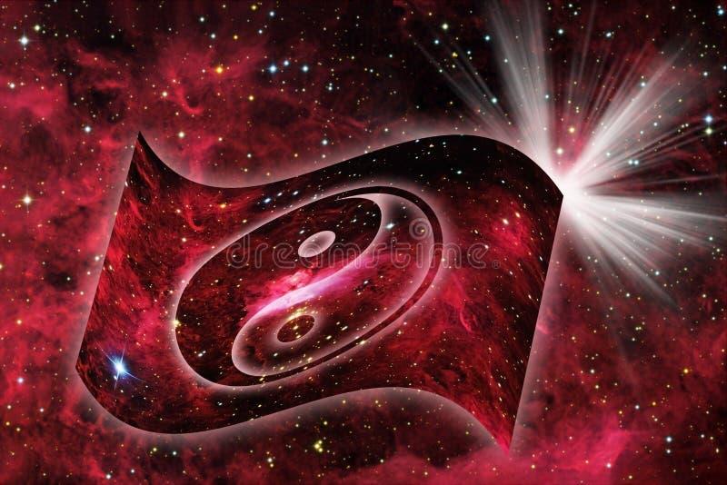 κοσμικό yang yin διανυσματική απεικόνιση
