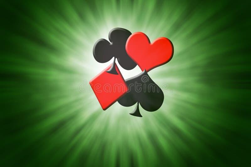 Κοστούμια των καρτών πόκερ στοκ εικόνα με δικαίωμα ελεύθερης χρήσης