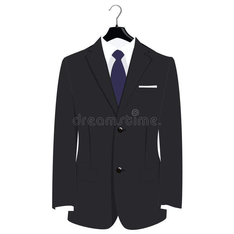 Κοστούμι στην κρεμάστρα διανυσματική απεικόνιση