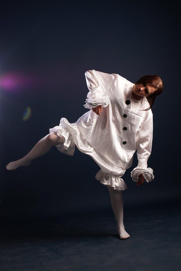 Κοστούμι Pierrot απομονωμένος στοκ φωτογραφία