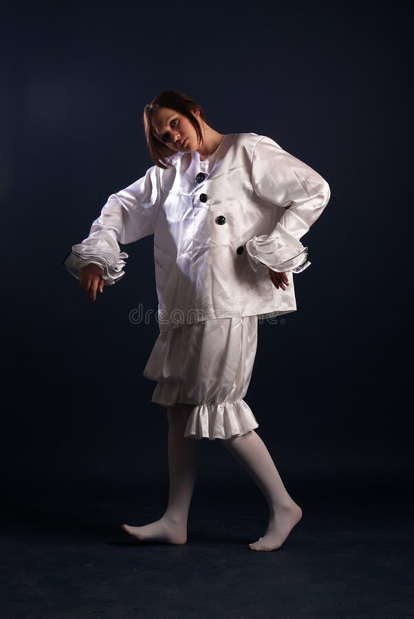 Κοστούμι Pierrot απομονωμένος στοκ εικόνες με δικαίωμα ελεύθερης χρήσης