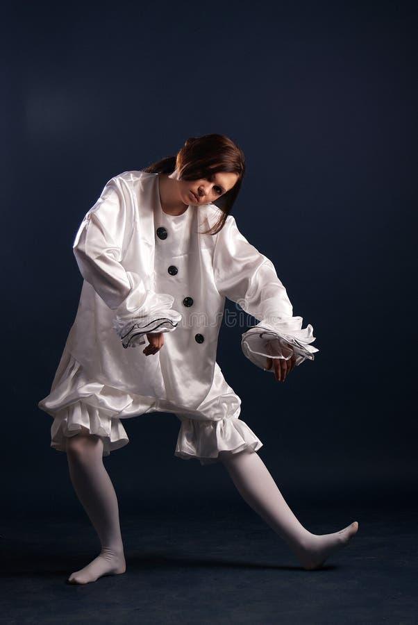 Κοστούμι Pierrot απομονωμένος στοκ εικόνες