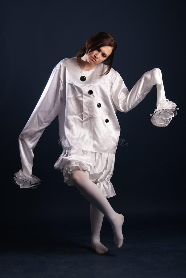 Κοστούμι Pierrot απομονωμένος στοκ φωτογραφία με δικαίωμα ελεύθερης χρήσης