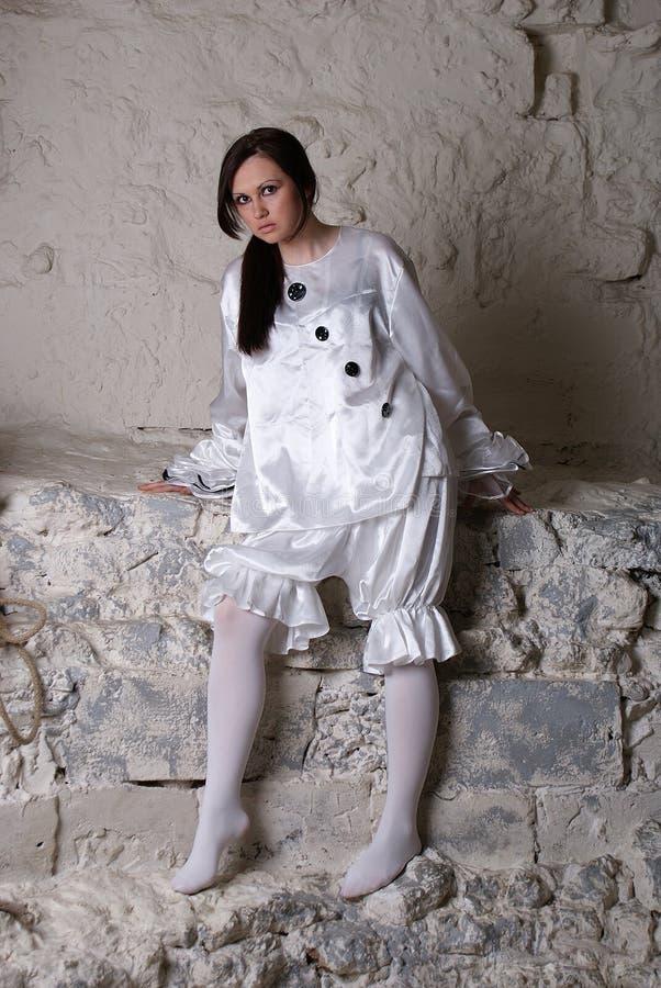 Κοστούμι Pierrot στοκ φωτογραφίες