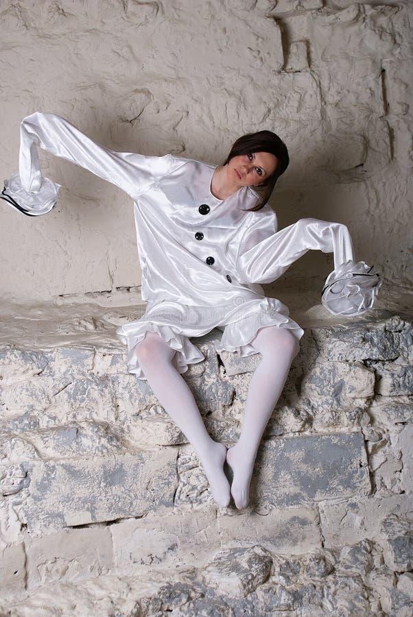 Κοστούμι Pierrot στοκ φωτογραφία με δικαίωμα ελεύθερης χρήσης