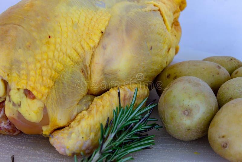 Κοτόπουλο ελεύθερος-σειράς με το χαρακτηριστικό κίτρινο χρώμα στοκ φωτογραφία με δικαίωμα ελεύθερης χρήσης