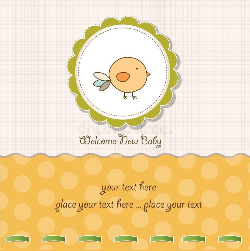 κοτόπουλο καρτών μωρών αν&alph απεικόνιση αποθεμάτων