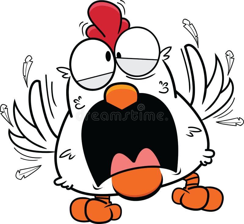 κοτόπουλο κινούμενων σχεδίων τρελλό ελεύθερη απεικόνιση δικαιώματος