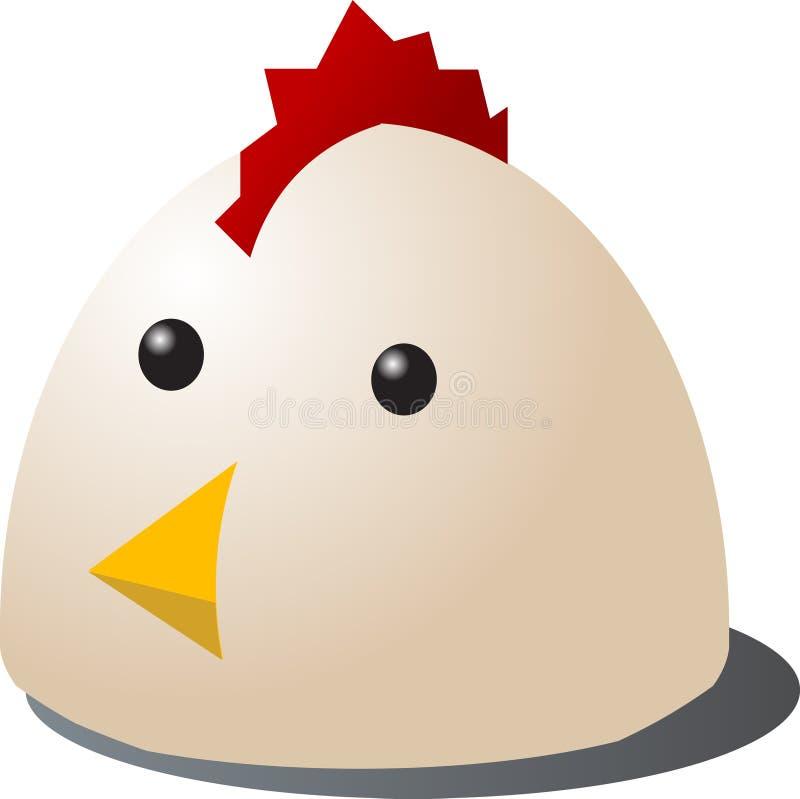 κοτόπουλο κινούμενων σχεδίων διανυσματική απεικόνιση