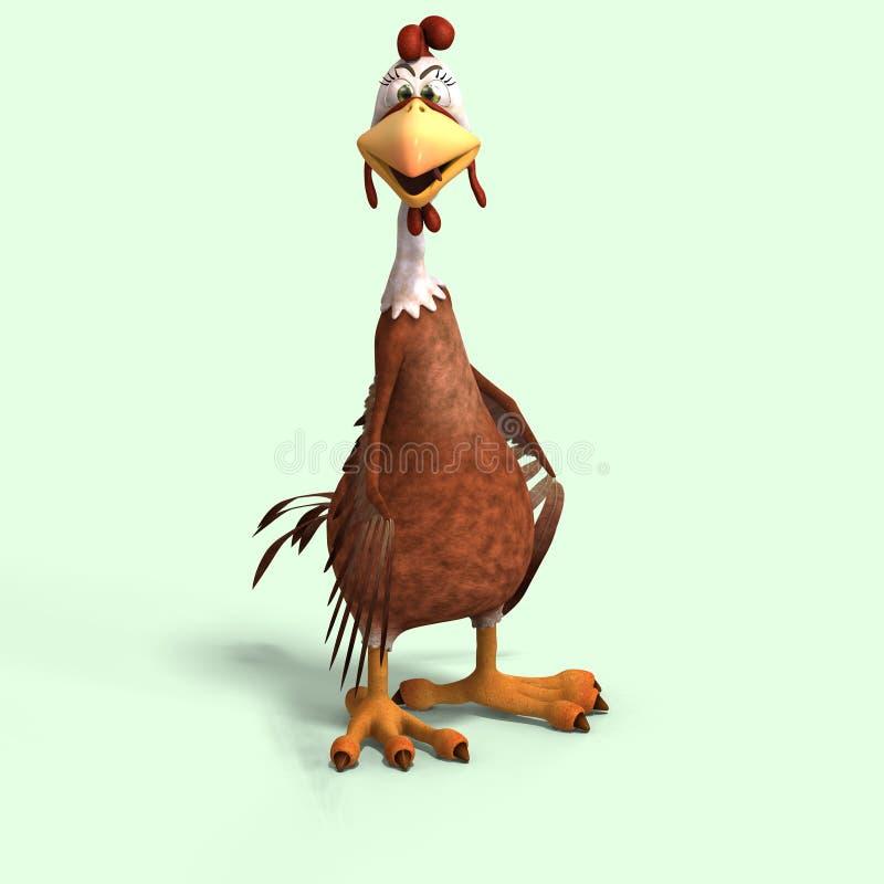 κοτόπουλο κινούμενων σχ διανυσματική απεικόνιση