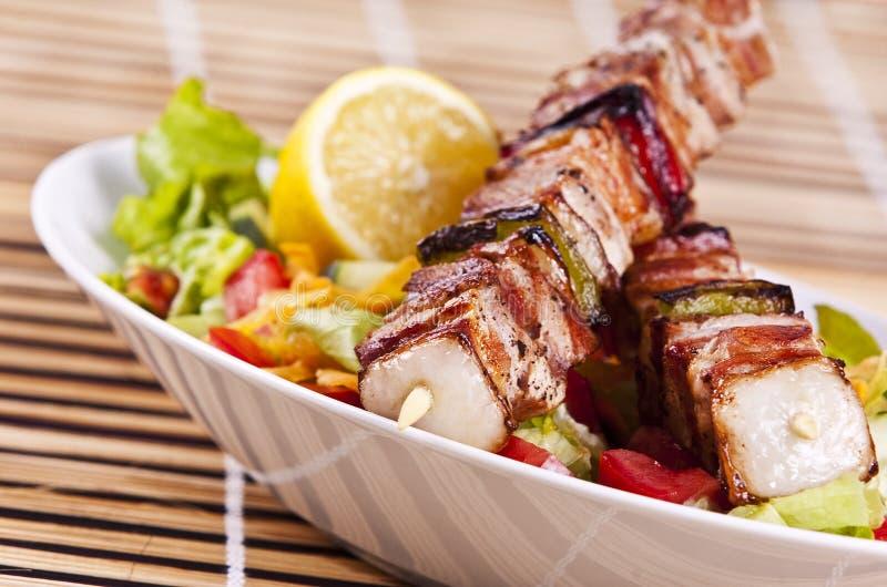κοτόπουλο kebab στοκ φωτογραφίες