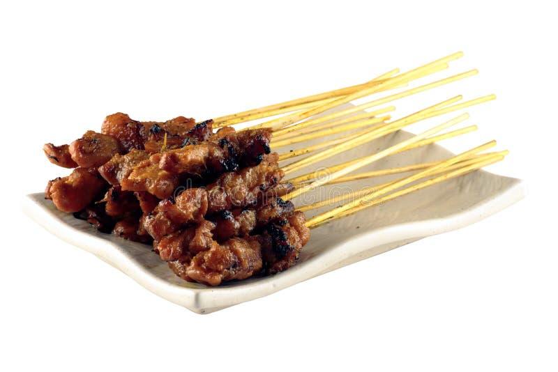 κοτόπουλο satay στοκ εικόνα με δικαίωμα ελεύθερης χρήσης