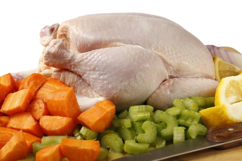 Κοτόπουλο και veg για stew στοκ εικόνες