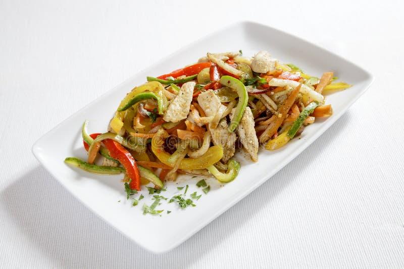 Κοτόπουλο με τα λαχανικά στοκ εικόνες με δικαίωμα ελεύθερης χρήσης