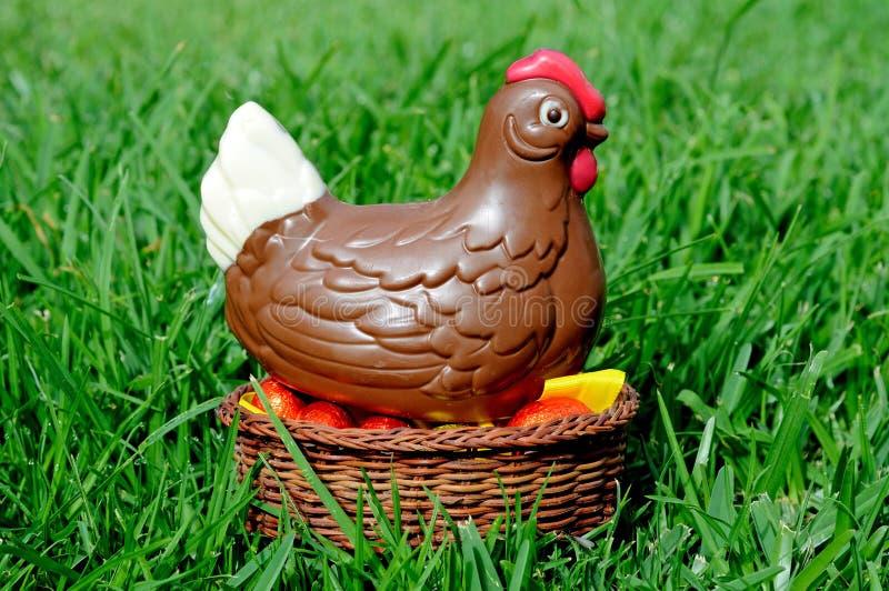 Κοτόπουλο Πάσχας σοκολάτας. στοκ εικόνες